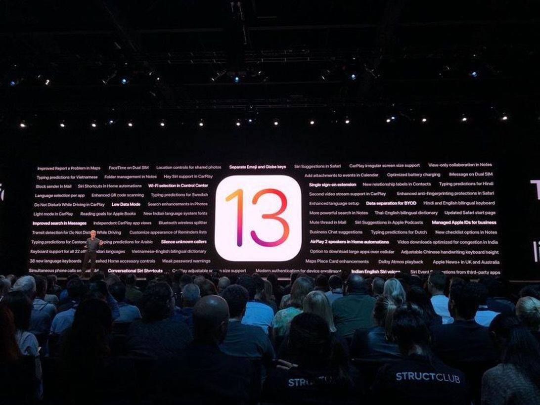 PRESENTATO IL NUOVO iOS13 DI APPLE. ECCO COSA CAMBIERA' PER I POSSESSORI DI iPHONE