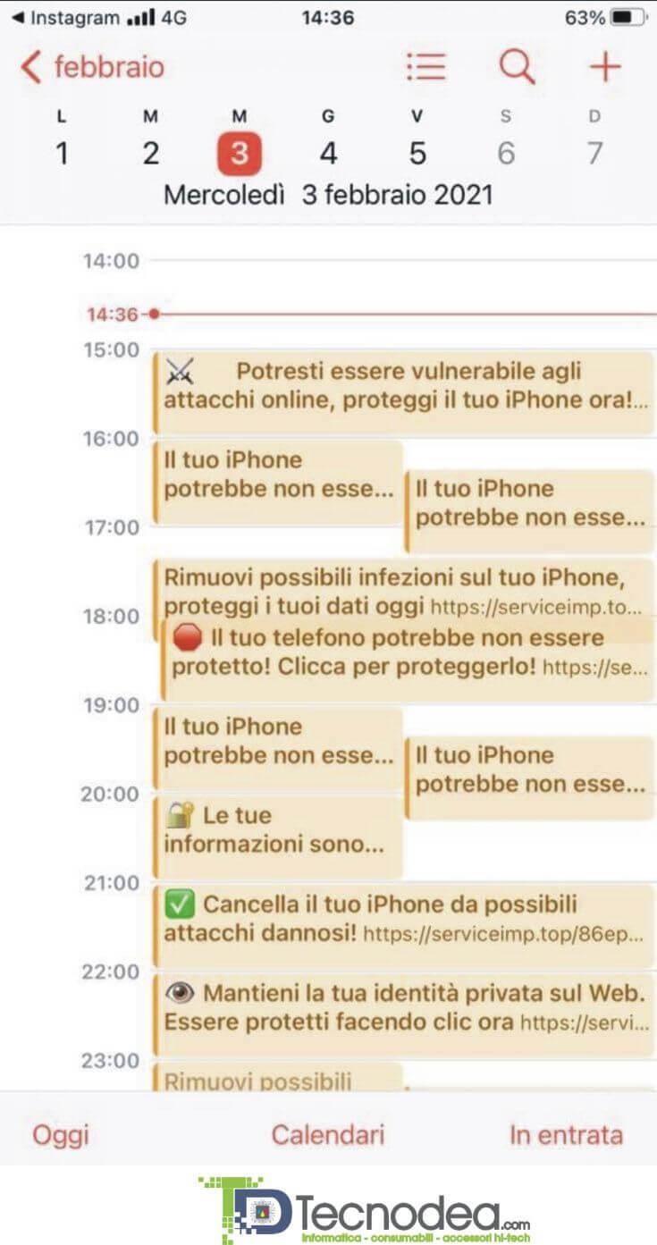 """APPLE iPHONE E iPAD: COME RIMUOVERE IL """"FINTO"""" VIRUS CALENDARIO"""